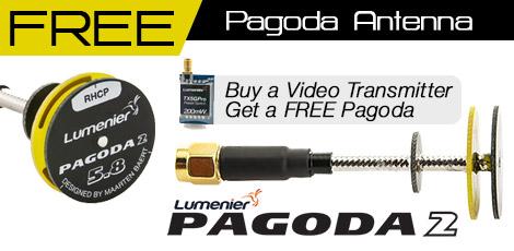 Free Lumenier Pagoda Antenna with VTX Purchase