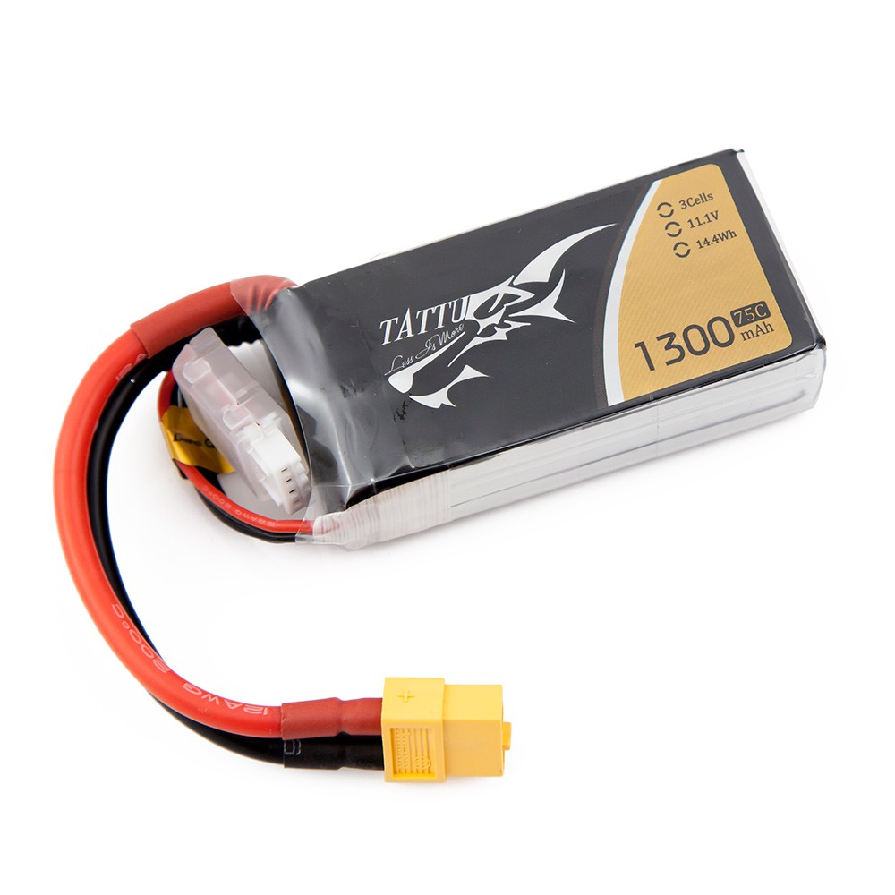 TATTU 1300mAh 3s 75c Lipo Battery