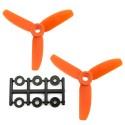 HQProp 3x3x3O CCW Propeller - 3 Blade (2 Pack - Orange Nylon Glass Fiber)