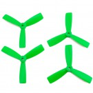 DAL 4x4.5 Tri-Blade Bullnose Props (Set of 4 - Green)