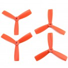 DAL 4x4.5 Tri-Blade Bullnose Props (Set of 4 - Orange)