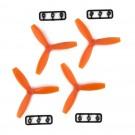 RotorX RX3040T Tri Prop 4 Pack - Orange