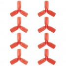 "DYS 2"" 3 Blade, Red Propeller - Set of 8 (4x CW, 4x CCW)"