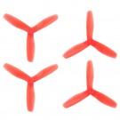 DAL 5x4.5 - 3 Blade Bullnose Propeller - V2 T5045 (Set of 4 - Crystal Red)