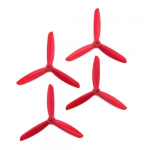 DAL 5x4.5 - 3 Blade Propeller - TJ5045 (Set of 4 - Red)