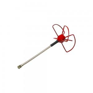 FuriousFPV STUBBY 48mm 5.8Ghz U.FL LHCP Circular Antenna (Red)