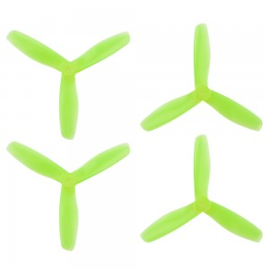 DAL 5x4.5 - 3 Blade Bullnose Propeller - V2 T5045 (Set of 4 - Crystal Green)