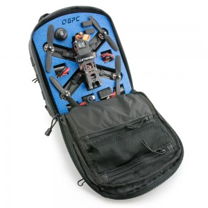 Backpack shown fully loaded with a QAV210 and FPV gear. (Gear not included)
