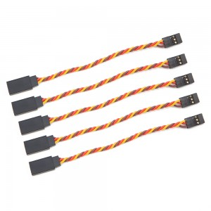 30cm Male to Female Servo Extension Cable Twisted 22AWG - JR Style (5 pcs)