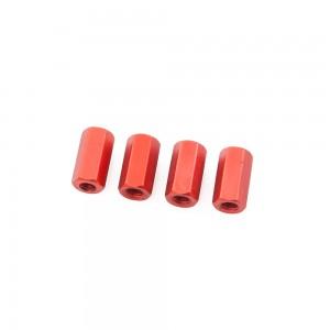Red Hex Standoffs 10mm (4 pcs)