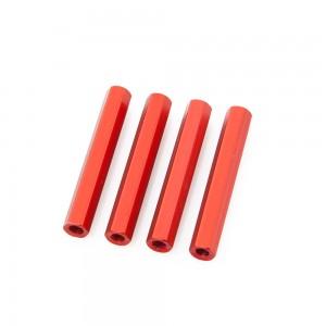 Red Hex Standoffs 35mm (4 pcs)