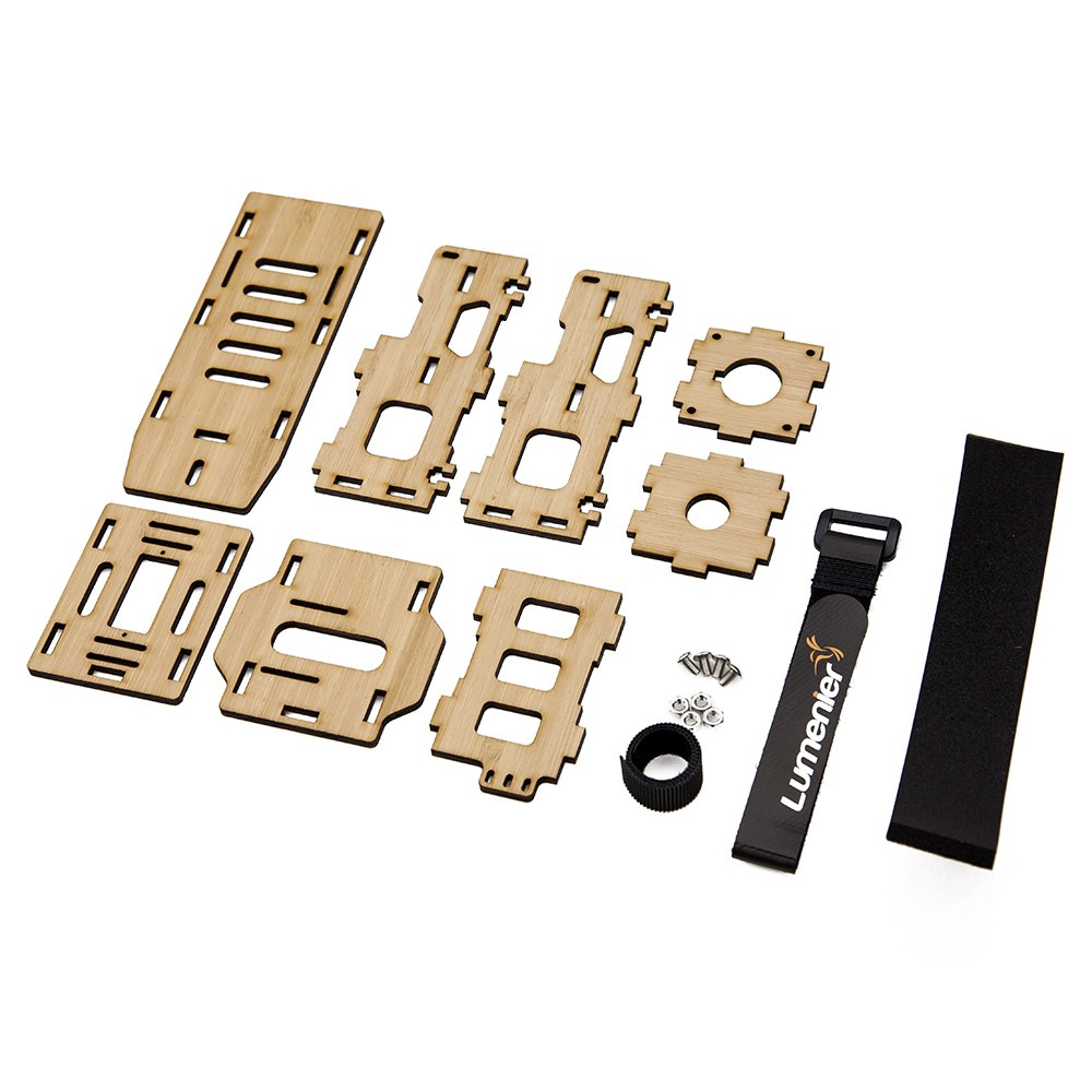 Parts included in the FPV Backpack.