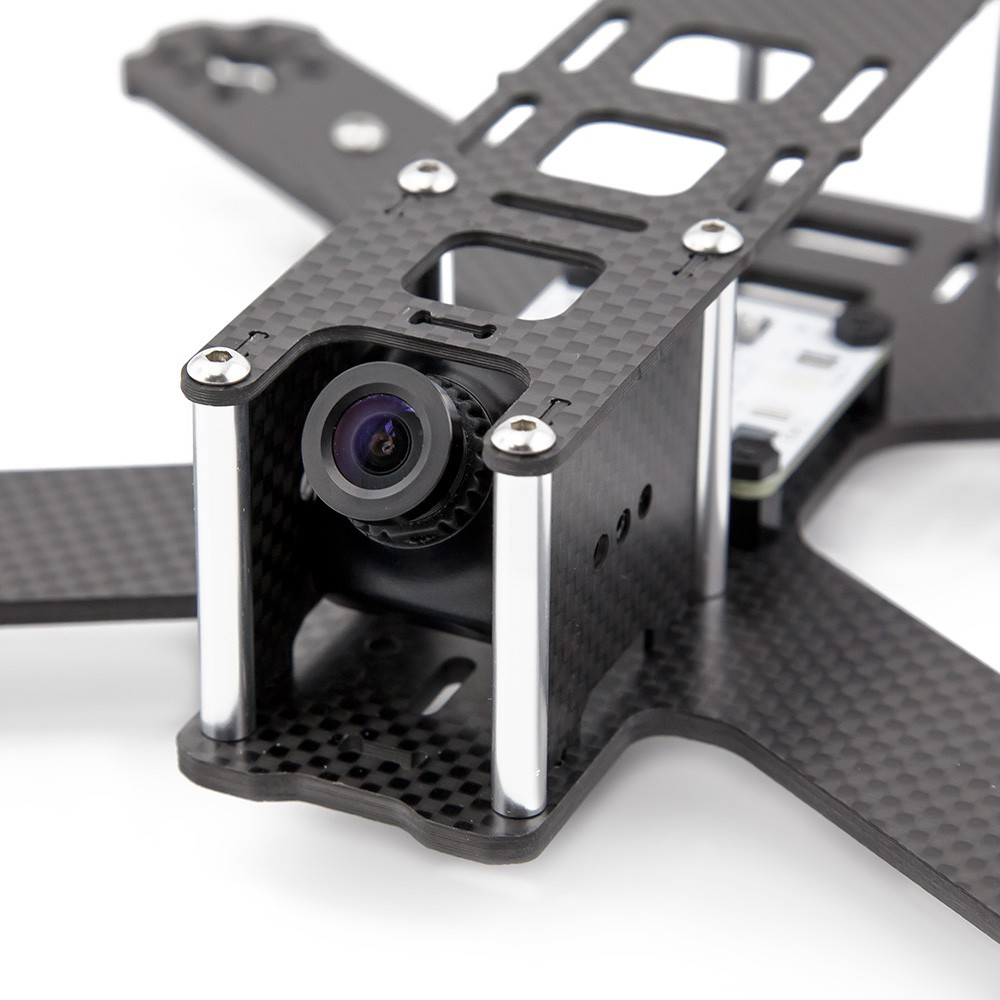 Multiple mounting options for the mini FPV cam with adjustable angles.