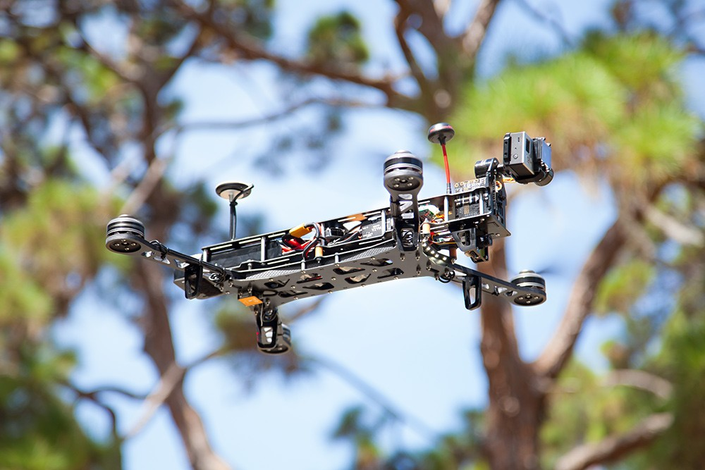 Flying with the G10 520mm arms and QAV Quick-Mount Brushless Gimbal.