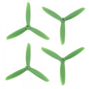 Gemfan 5x4.5x3 Glass Fiber Nylon Propeller - 3 Blade (Set of 4 - Green)