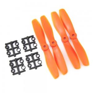 Gemfan 5x4.5 Bullnose Propeller - Nylon Glass Fiber (Set of 4 - Orange)