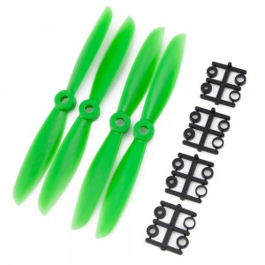 Gemfan 6x4.5 Nylon Glass Fiber Propeller (Set of 4 - Green)