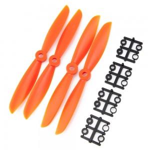 Gemfan 6x4.5 Nylon Glass Fiber Propeller (Set of 4 - Orange)