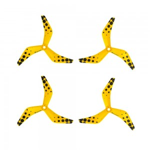 Azure Power 5045 5x4.5x3 PC - 3 Blades (Set of 4 - Ferrari Yellow)