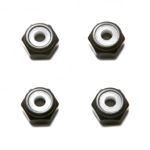 M5 Black Aluminum Lock Nut (set of 4)