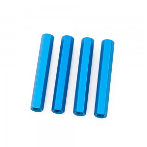 Blue Hex Standoffs 35mm (4 pcs)