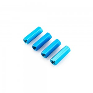 Blue Hex Standoffs 15mm (4 pcs)