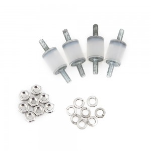 Clear Soft Silicone Bobbins (4pcs)