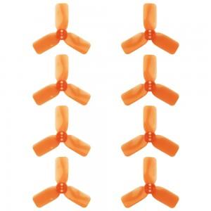 "DYS 2"" 3 Blade, Orange Propeller - Set of 8 (4x CW, 4x CCW)"