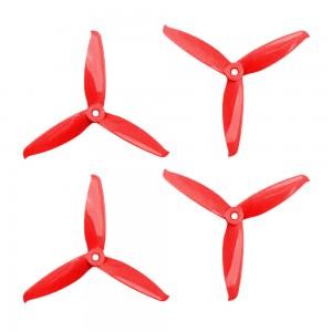 Gemfan 5152 - 3 Blade Propeller - Red PC (Set of 4)