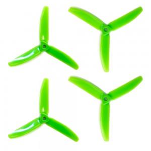 Gemfan 5x4 - 3 Blade Propellers - PC UnBreakable (Set of 4 - Green)
