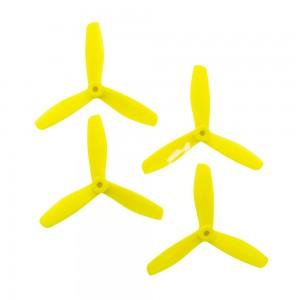 Gemfan 5x4.5 - Fura Fluo Yellow Bullnose 3 Blade Master Propellers (Set of 4)
