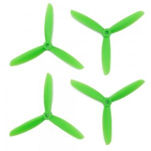 Gemfan 5x4.5x3 ABS Propeller - 3 Blade (Set of 4 - Green)