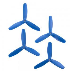 Gemfan 5x5 - Bullnose 3 Blade Propeller - Nylon Glass Fiber (Set of 4 - Dark Blue)