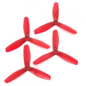 Gemfan 5x5 - Bullnose 3 Blade Propeller - Nylon Glass Fiber (Set of 4 - Red)