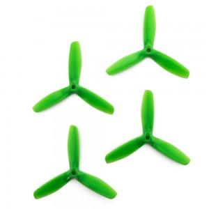 Gemfan 5x5 - Bullnose 3 Blade Propellers - PC UnBreakable (Set of 4 - Green)
