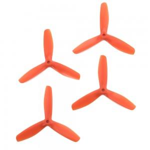 Gemfan 5x5 - Bullnose 3 Blade Propellers - PC UnBreakable (Set of 4 - Orange)