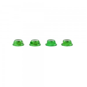 Lumenier M5 Green Aluminum Low Profile Lock Nut (set of 4 CCW)