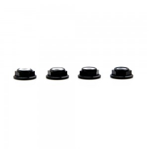 Lumenier M5 Black Aluminum Low Profile Lock Nut (set of 4 CCW)