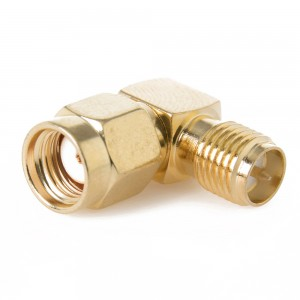 90 Degree RP SMA Male to RP SMA Female Adapter