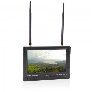 "7"" Lumenier LCD FPV Monitor with 5.8GHz 32CH Diversity Rx, DVR, Battery"