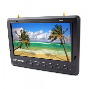 "7"" Lumenier Ultra-Thin IPS Panel FPV Monitor w/ 5.8GHz 32CH Diversity Rx, Battery"