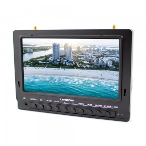 "7"" Lumenier 1000cd/m² Panel FPV Monitor w/ 5.8GHz 39CH Diversity Rx, Battery, DVR"