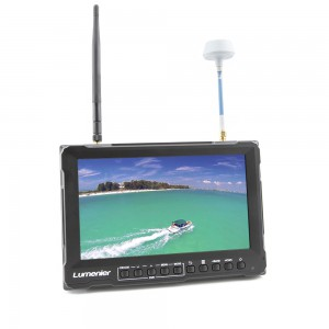 "8"" Lumenier Slim FPV Monitor w/ 5.8GHz 32CH Diversity Rx, DVR, Battery & HDMI"