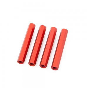 Red Hex Standoffs 35mm (4 pcs)