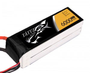 TATTU 6000mAh 4s 35c Lipo Battery (XT60)