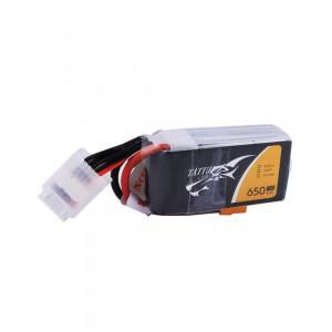TATTU 650mAh 4S1P 75C 14.8V Lipo Battery Pack with XT30 plug