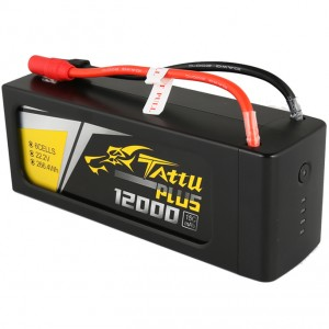 Tattu Plus 12000mAh 22.2V 15C 6S Lipo Smart Battery Pack