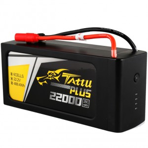 Tattu Plus 22000mAh 22.2V 25C 6S Lipo Smart Battery Pack