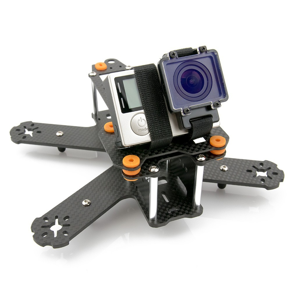 Made to fit the GoPro at an adjustable angle.