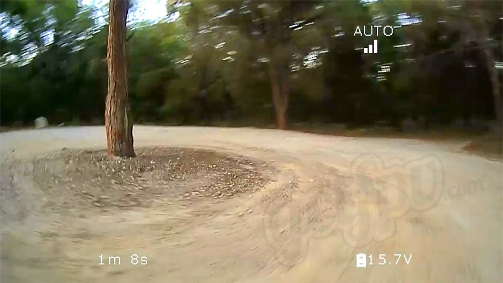 Real screen captures from the live HD FPV feed.